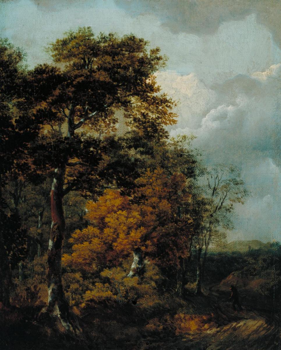 Томас Гейнсборо. Пейзаж с крестьянином на дороге
