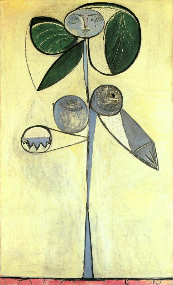 Пабло Пикассо. Женщина-цветок. Франсуаза Жило