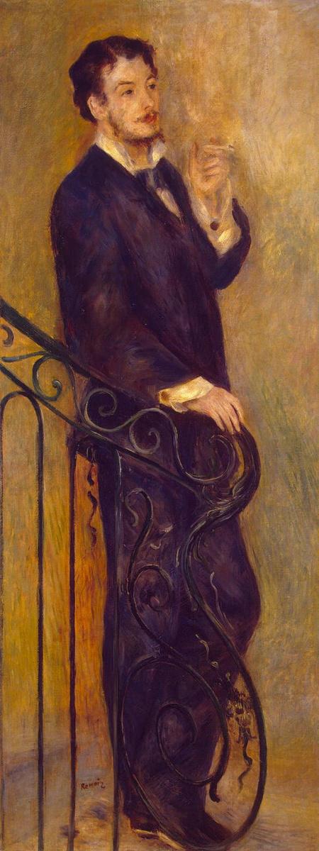 Пьер Огюст Ренуар. Мужчина на лестнице