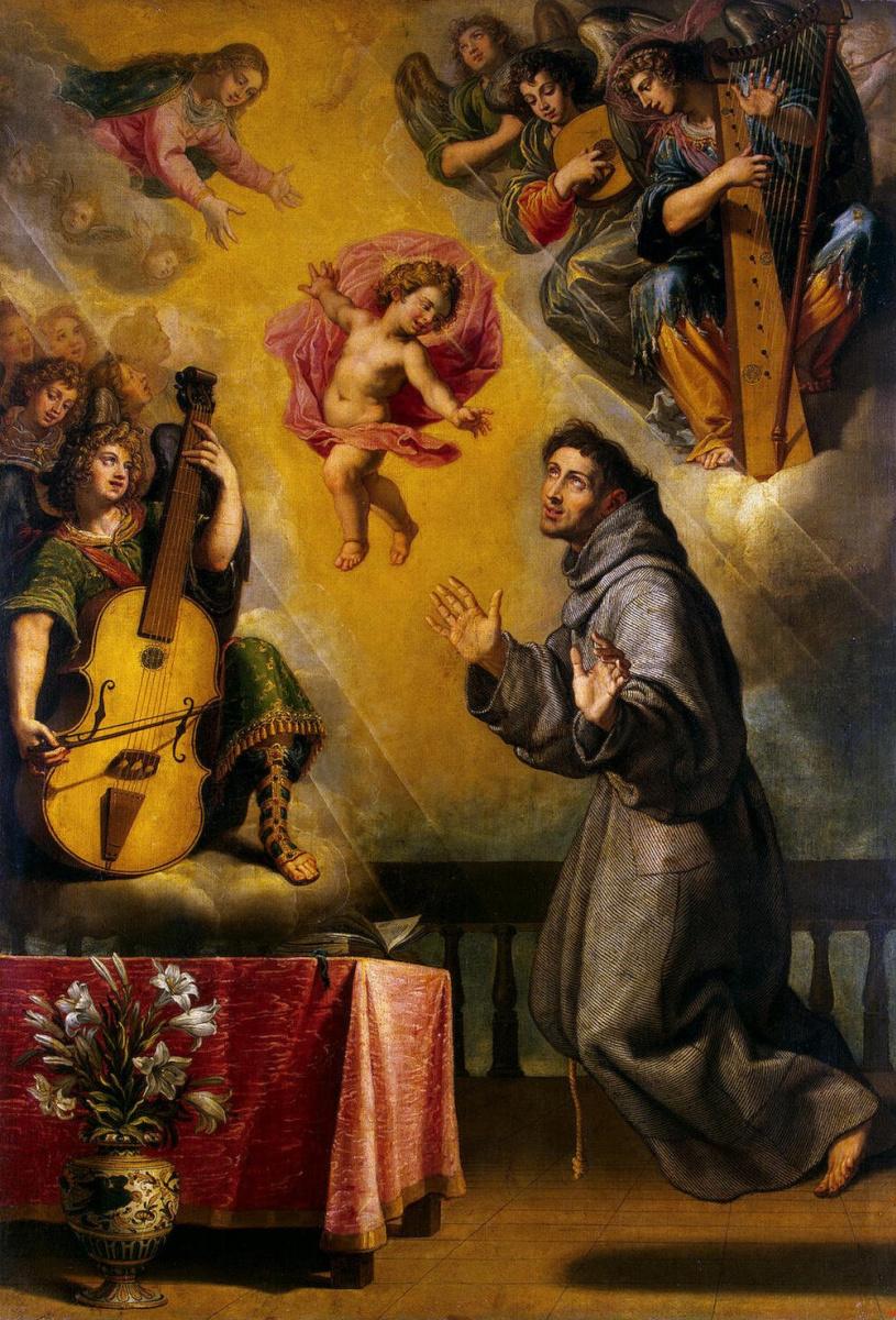 Висенте Кардучо. Видение Святого Антония Падуанского