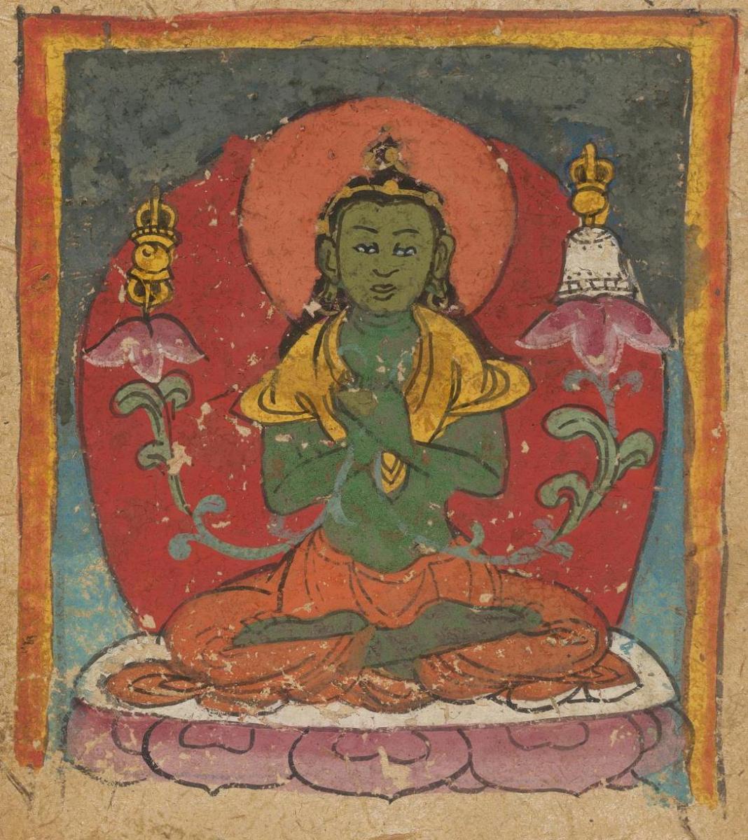 Unknown artist. The deity of the Tibetan Bon religion. Map 3
