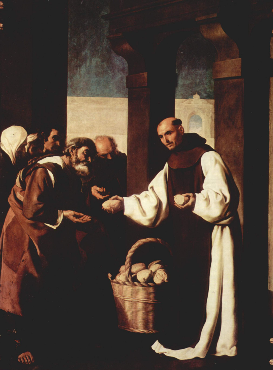Francisco de Zurbaran. A cycle of paintings for the monastery of the congregation of St. Jerome in Guadalupe. Mercy Martin de Vizcaya