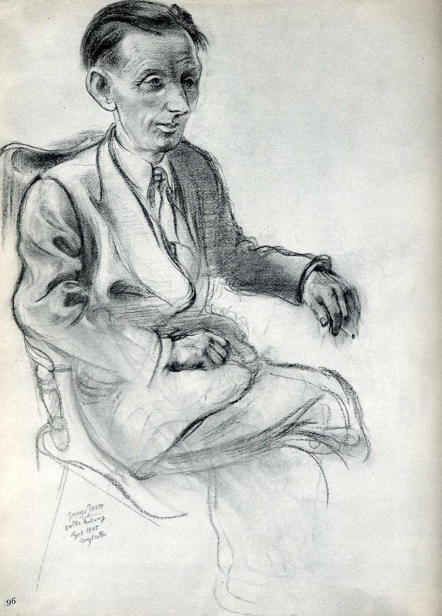 Георг Гросс. Сидящий мужчина