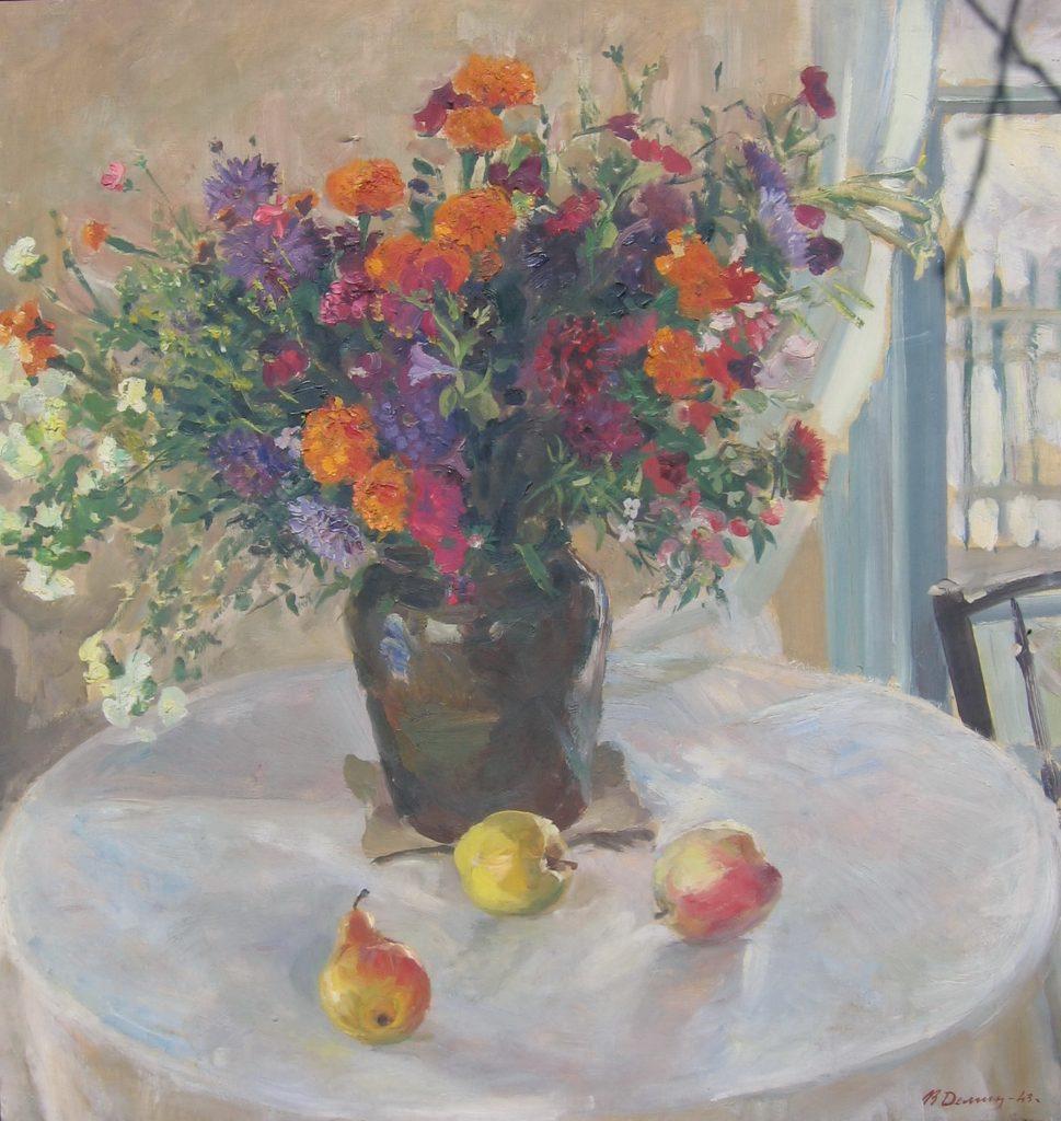 Vasily Fadeevich Demin. Still life flowers