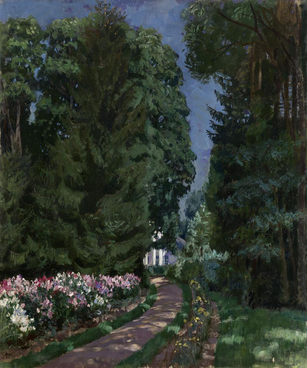 Stanislav Yulianovich Zhukovsky. Path in a garden