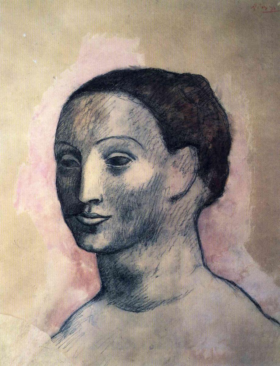 Пабло Пикассо. Голова женщины (Фернанда Оливье)