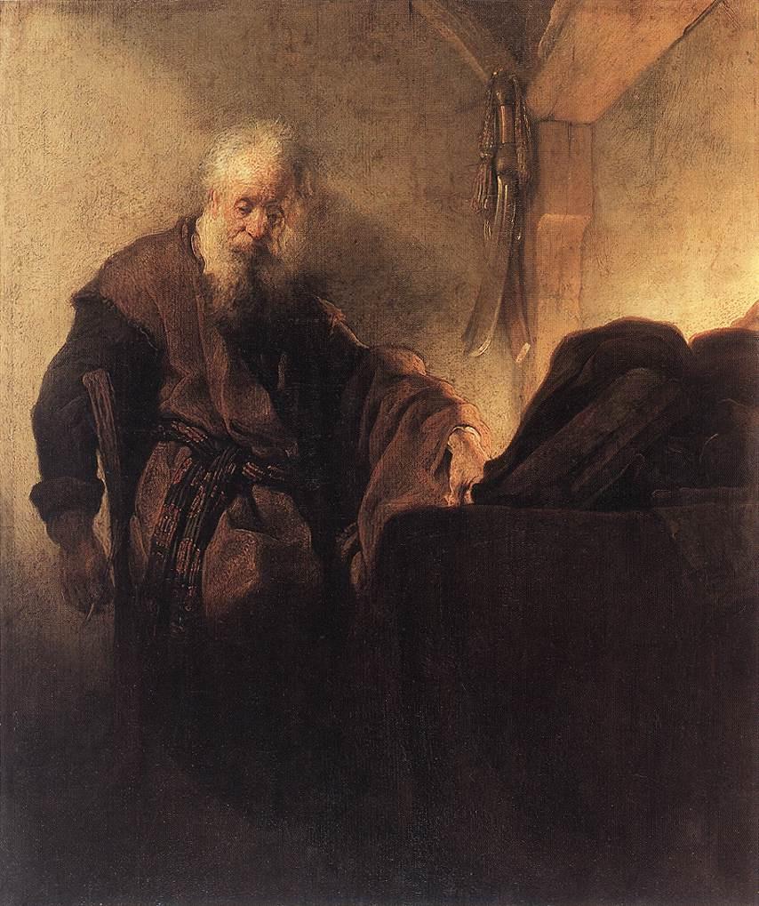 Rembrandt Harmenszoon van Rijn. St. Paul at his Desk