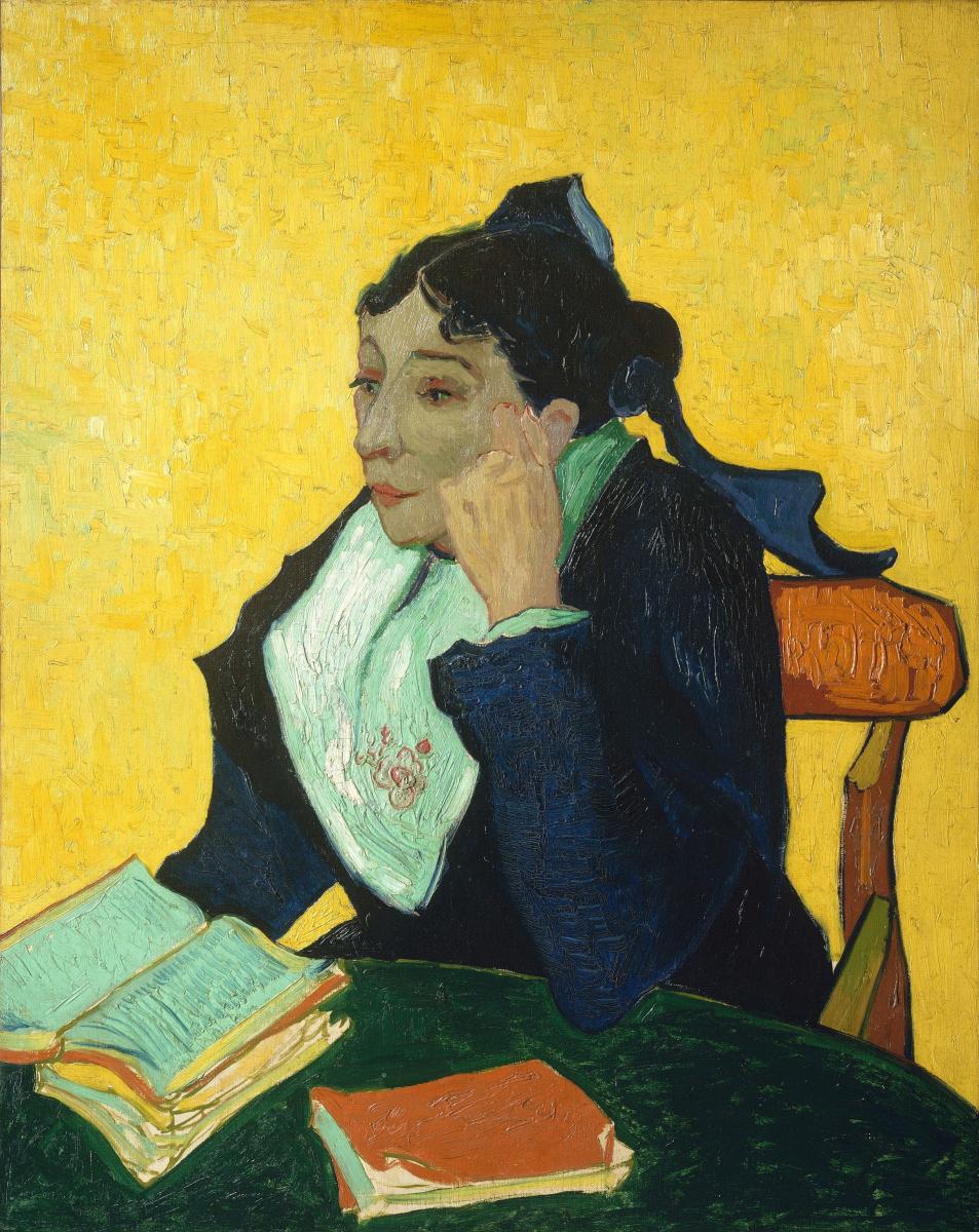 Винсент Ван Гог. Арлезианка, мадам Жино с книгами