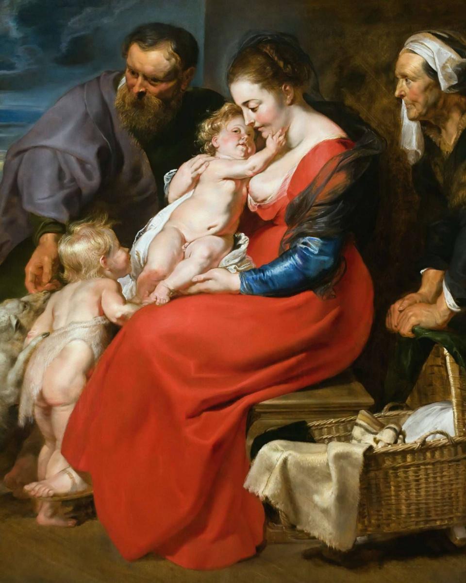 Питер Пауль Рубенс. Святое Семейство со святой Елизаветой и маленьким Иоанном Крестителем