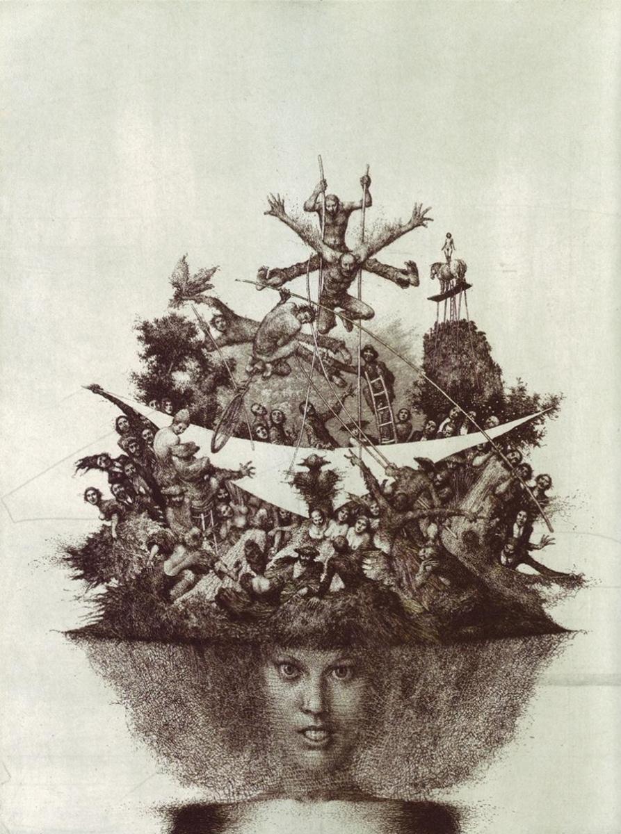 Альбин Бруновский. Дама в шляпе IV