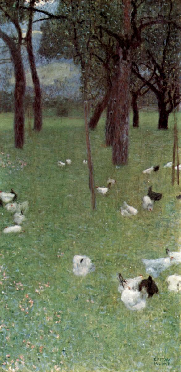 Густав Климт. Сад с курами в монастыре Св. Агаты