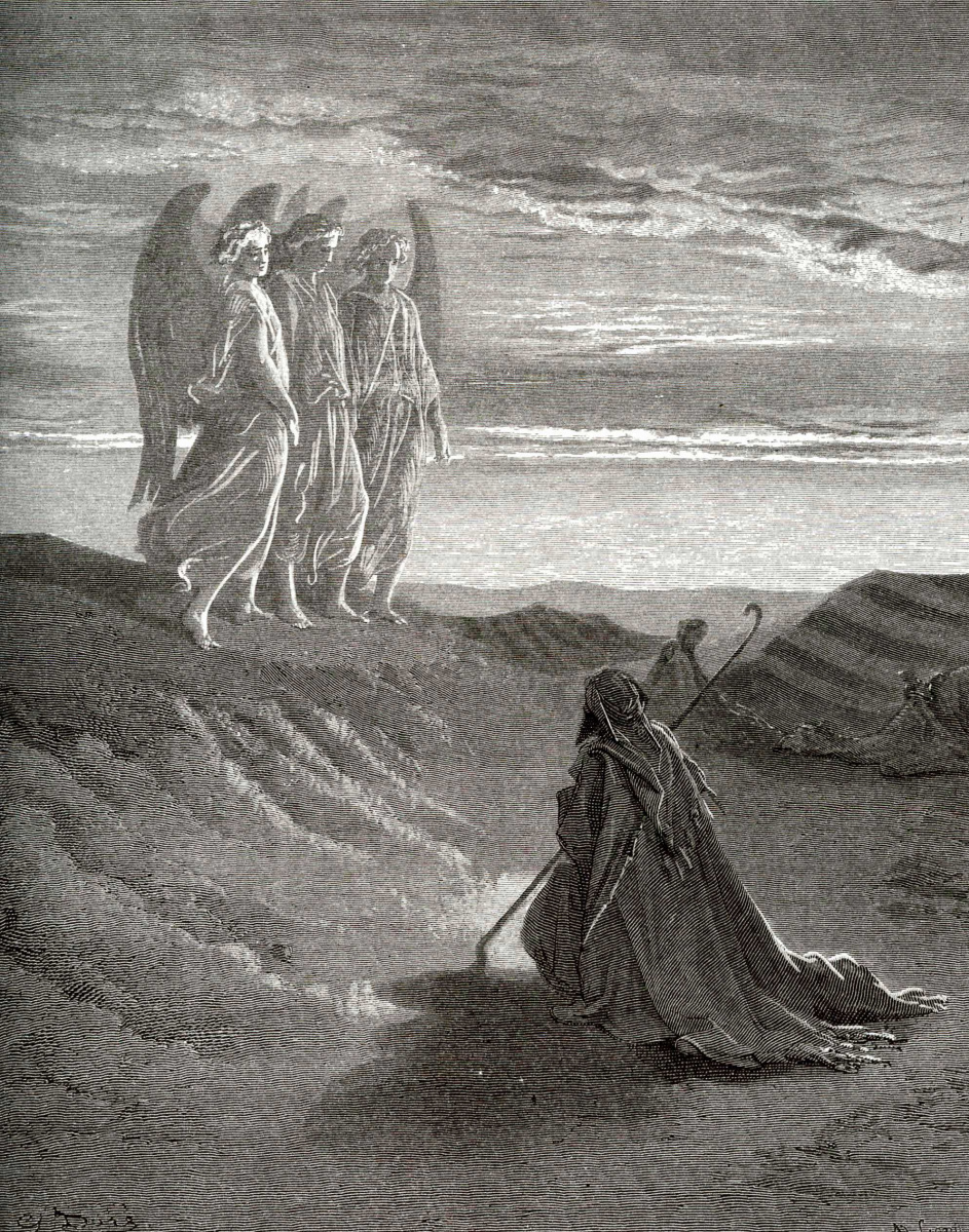Поль Гюстав Доре. Иллюстрации к Библии: явление Господа Аврааму