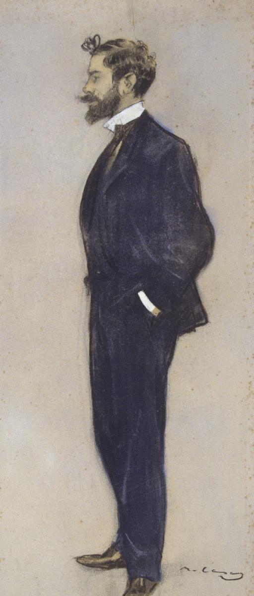 Рамон Касас Карбо. Портрет Хосепа М. Жорда и Лафонта