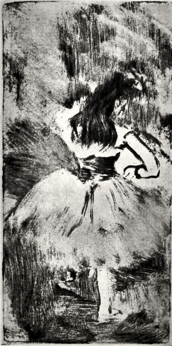 Эдгар Дега. Танцовщица, фигура со спины
