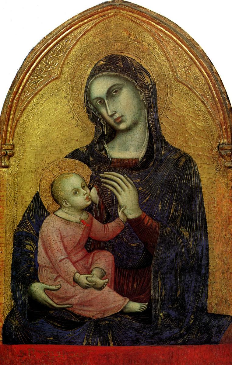 Барнаба да Модена. Богоматерь с младенцем