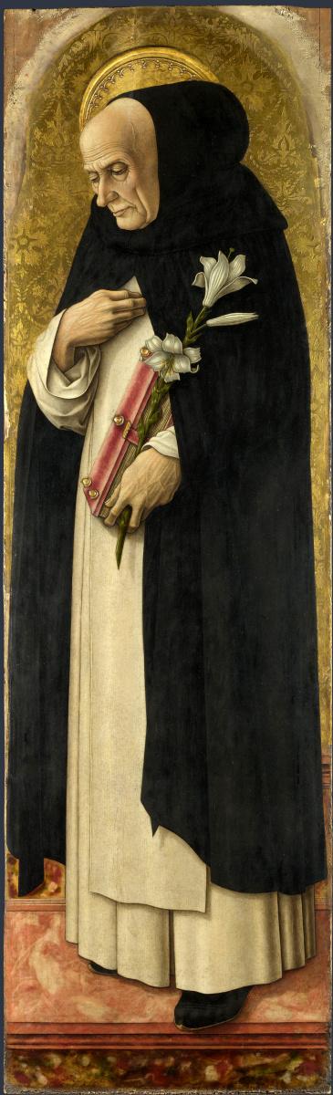 Карло Кривелли. Святой Доминик. Центральный алтарь Сан Доменико в Асколи. Фрагмент