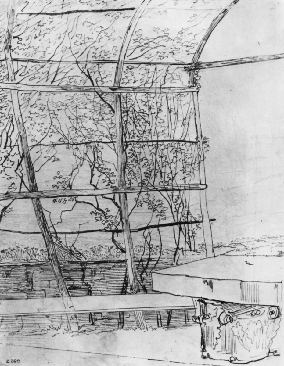 Карл Филипп Фор. Беседка с каменным столом в английском саду Гейдельбергского замка