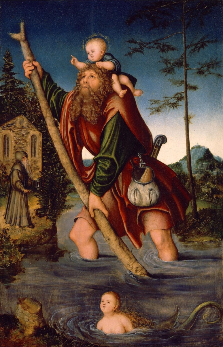 Лукас Кранах Старший. Святой Христофор