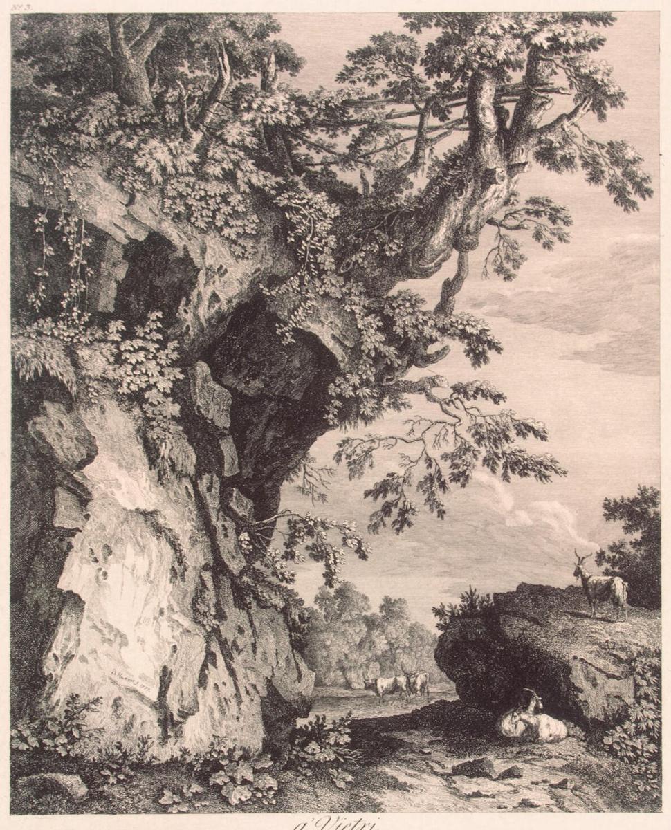 Георг Абрахам Хаккерт. Вид близ Виетри