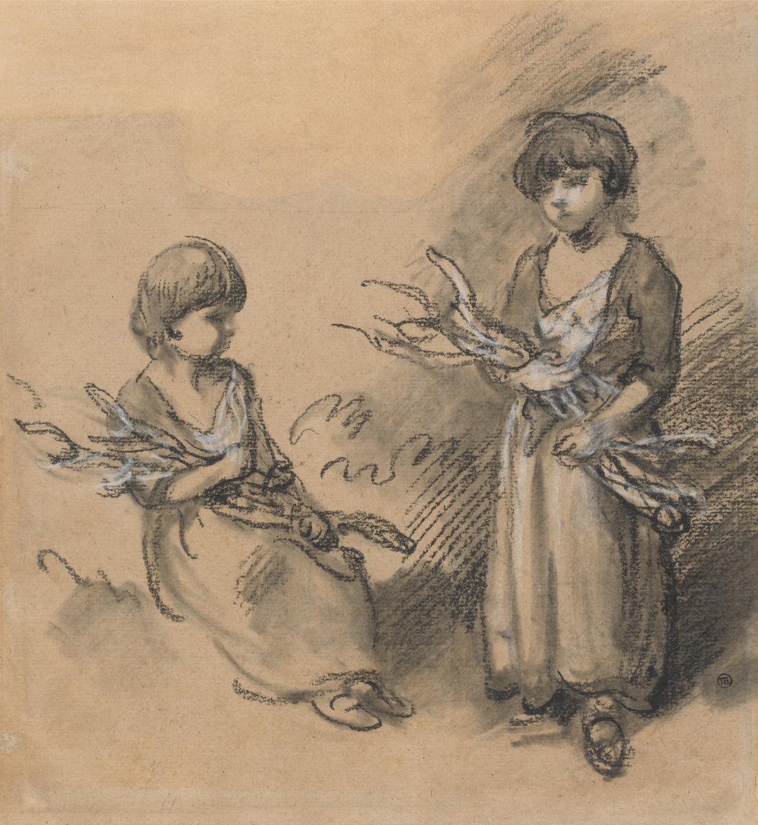 Thomas Gainsborough. Girls collecting firewood