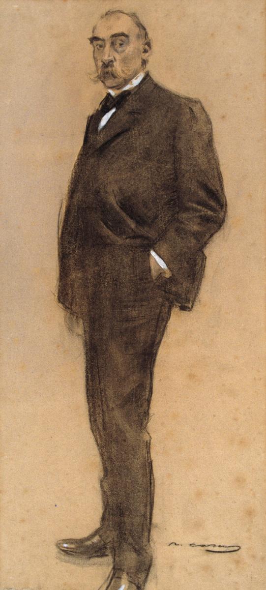Рамон Касас Карбо. Портрет Хосепа Масриеры