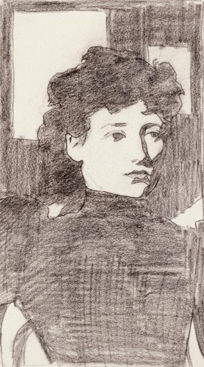 Артур Рэкхэм. Портрет женщины