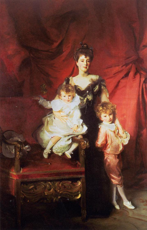 John Singer Sargent. Mrs. Casale with children Edward and Victor