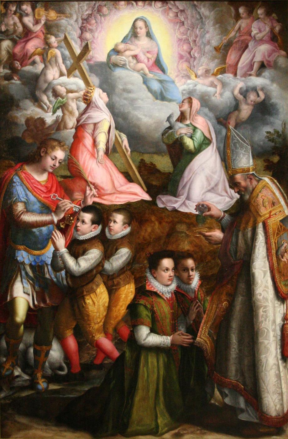 Лавиния Фонтана. Поклонение Богородице