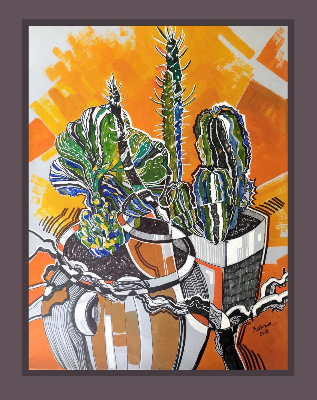 Mokhinur Maksumova. Cactuses