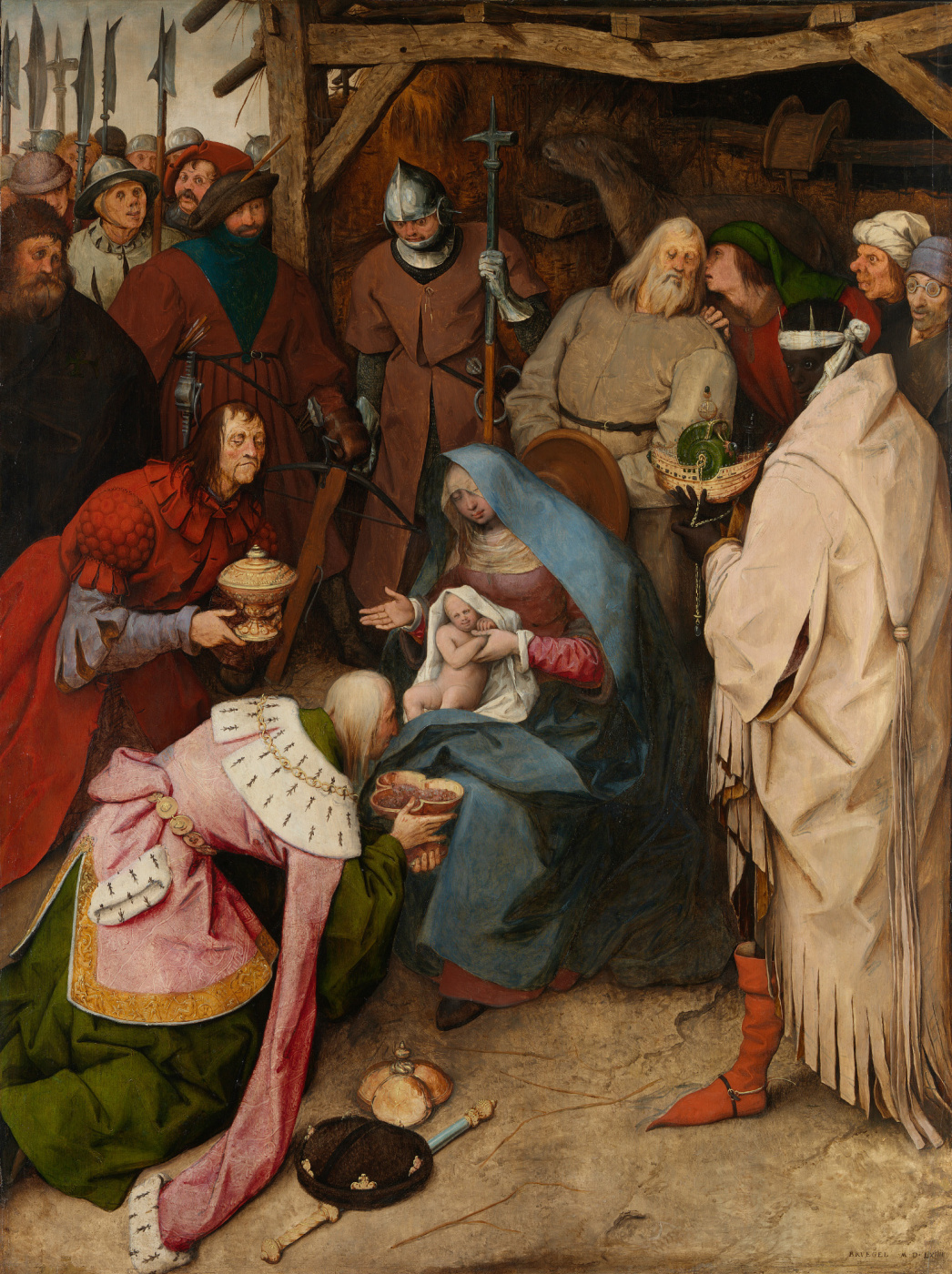 Pieter Bruegel The Elder. Adoration of the Magi