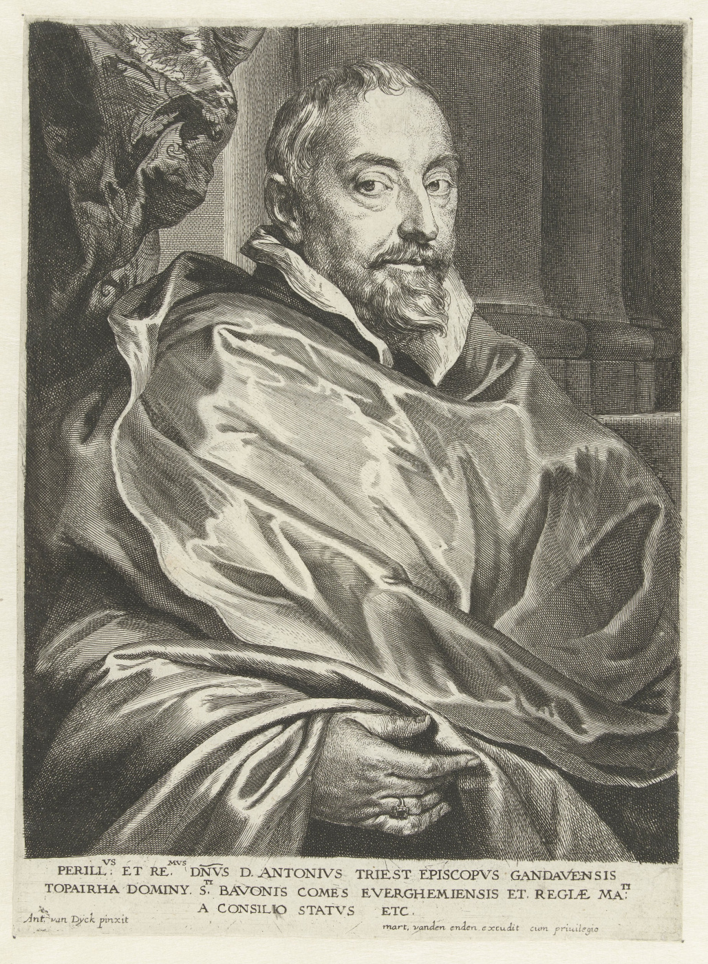 Anthony van Dyck. Portrait of Anthony Triest, Bishop of Ghent