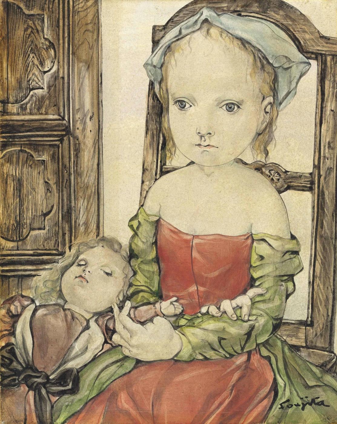 Zuguharu Fujita (Léonard Fujita). Two girls