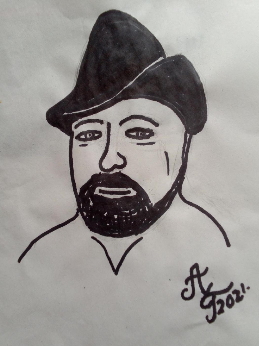 "Alexey Grishankov (Alegri). ""In a black hat"""