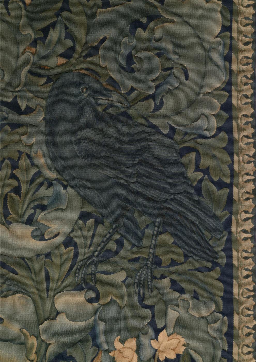 William Morris. Forest. Fragment. Raven