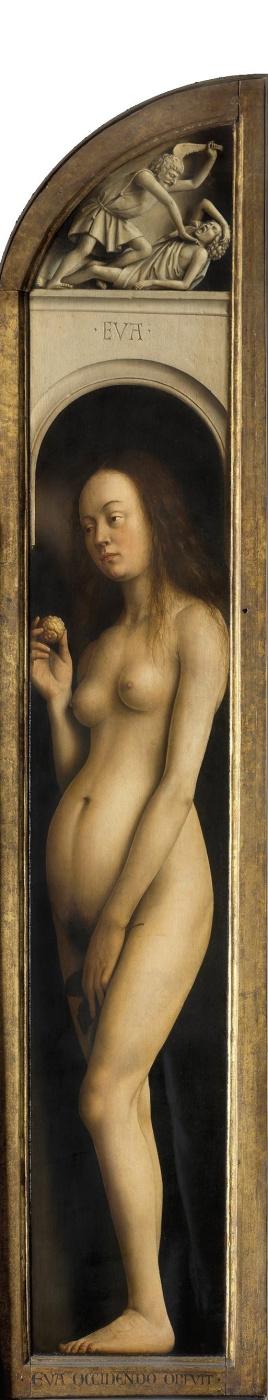 Jan van Eyck. The Ghent altarpiece. Eve (detail)