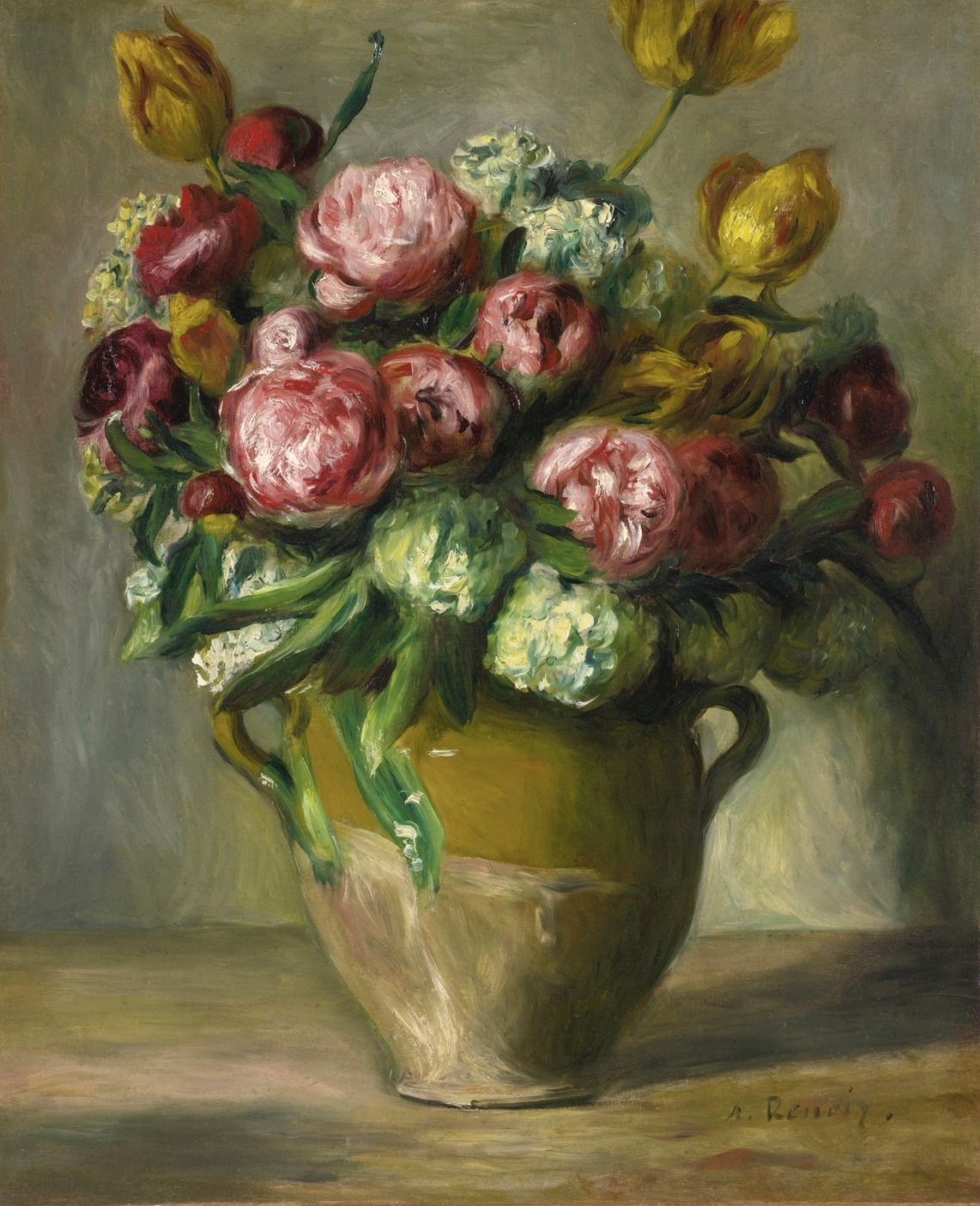 Pierre-Auguste Renoir. Peony vase
