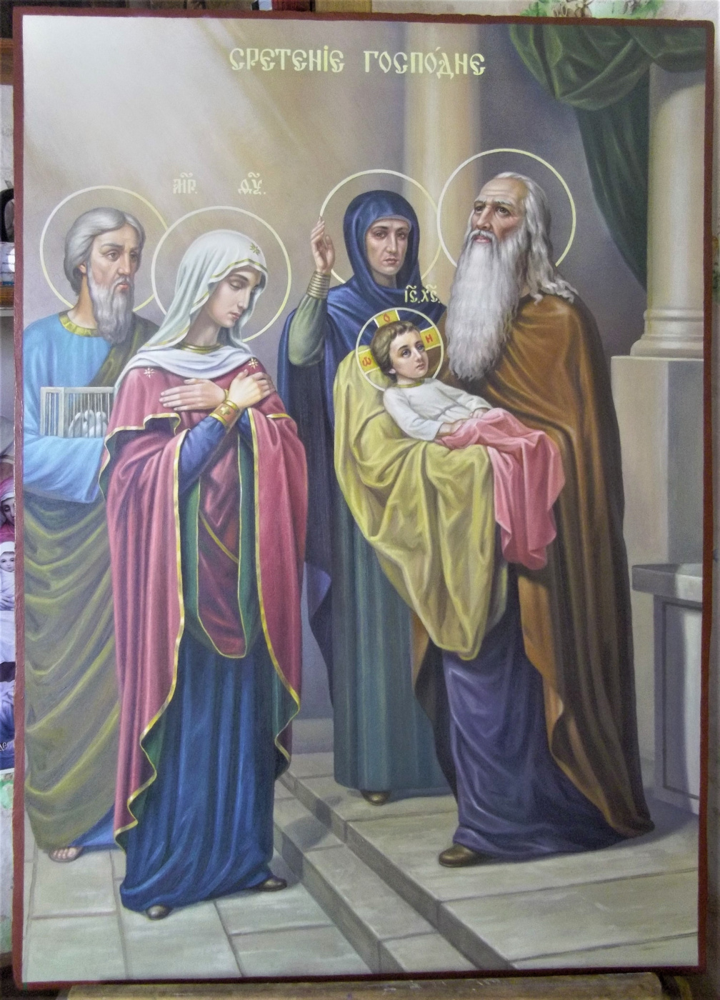 """Ruslan Vasilievich Derevtsov. Icon """"Meeting of the Lord."""""""