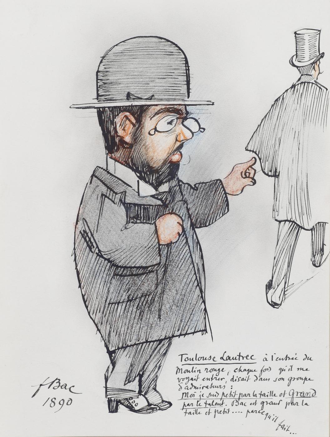 Ferdinand Buck. The caricature of Toulouse-Lautrec