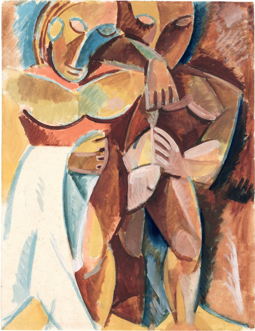 """Pablo Picasso. Friendship II. Sketch of a painting (Study for the painting """"Friendship"""")"""