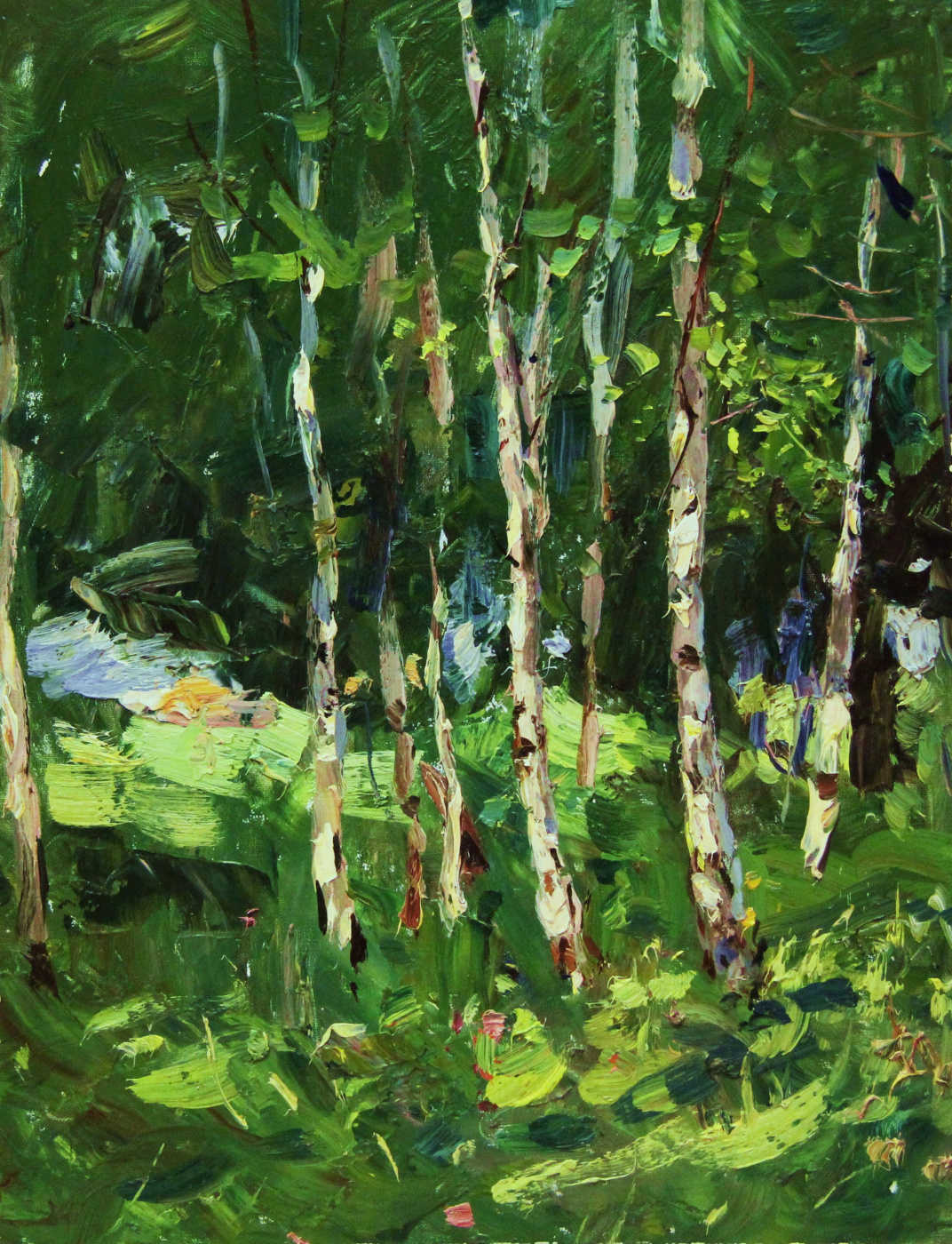 Vladimir Georgievich Gremitskykh. Birches. Summer.