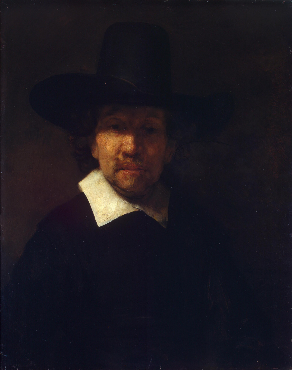 Rembrandt Harmenszoon van Rijn. Portrait of the poet Jeremias de Decker