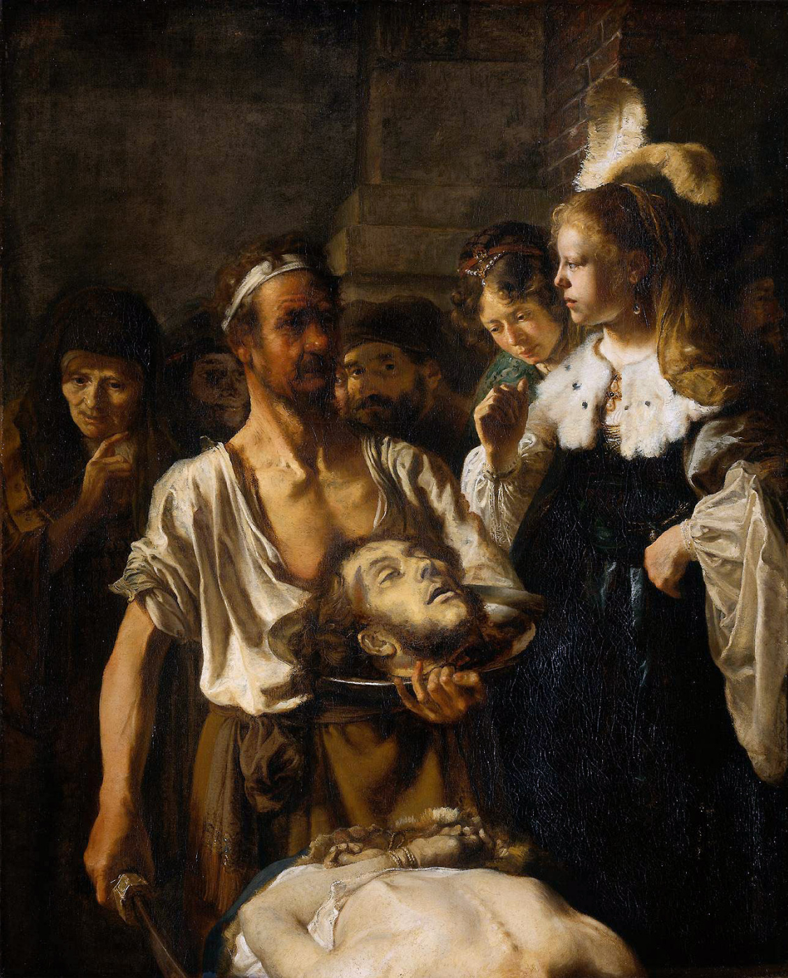 Karel Fabricius. The beheading of St. John the Baptist (workshop of Rembrandt van Rijn, the authorship is not confirmed)