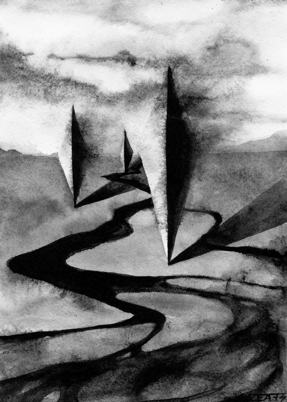 CEA 73. Unidentified geometric objects / Sketch