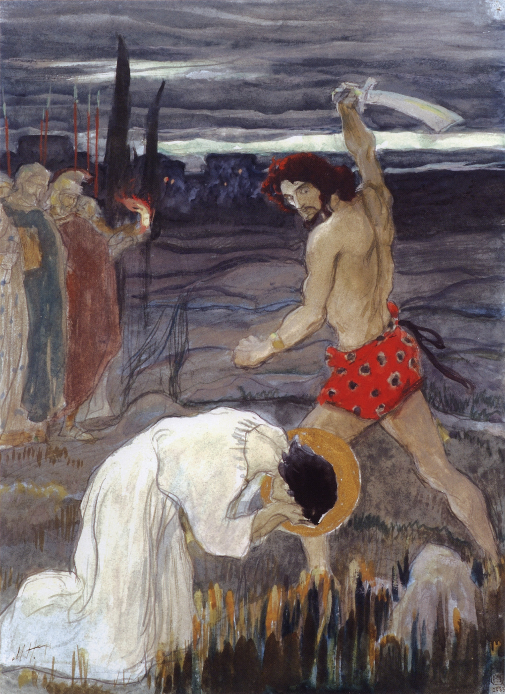 Mikhail Vasilyevich Nesterov. The execution of Saint George. The sketch for the painting of the North wall of the Church in the name of blagovernogo Prince Alexander Nevsky