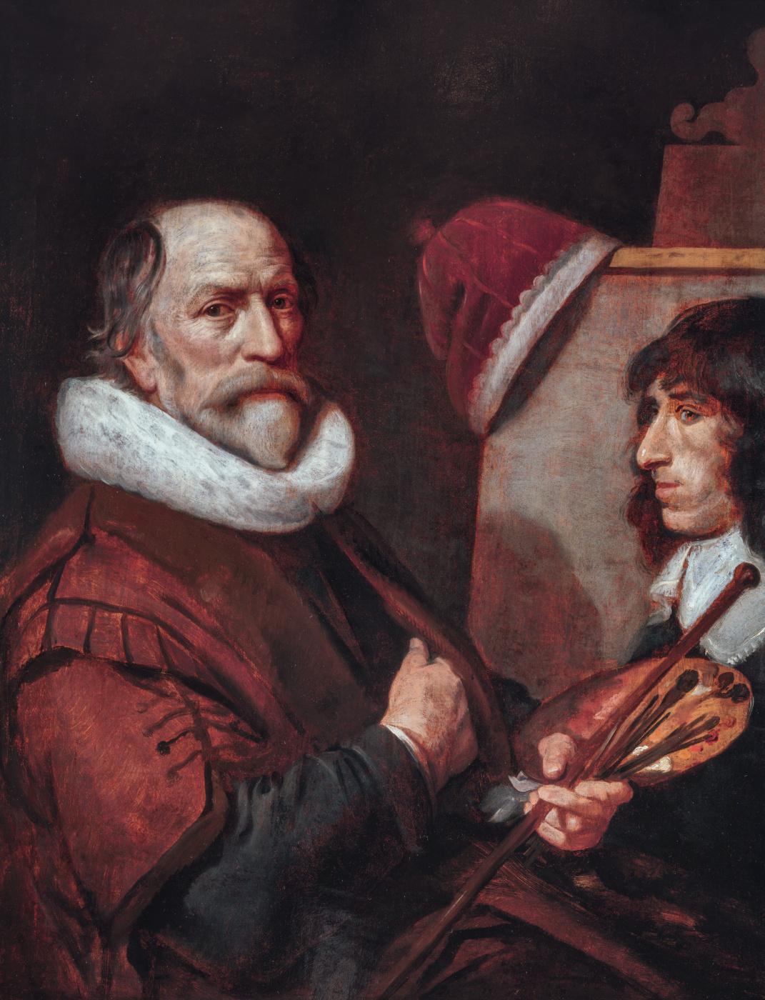 Janson Mihil van Mireveld. Self portrait at work