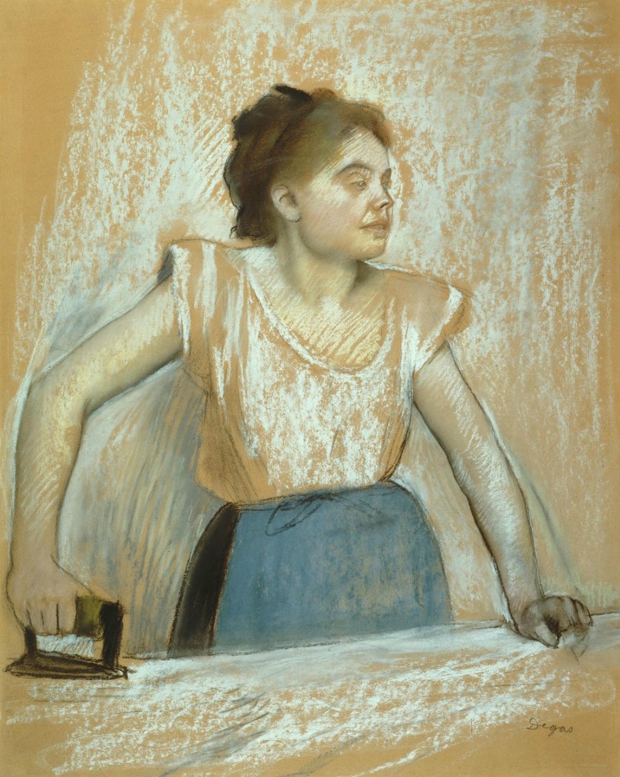 Edgar Degas Planchadora: Descripción de la obra