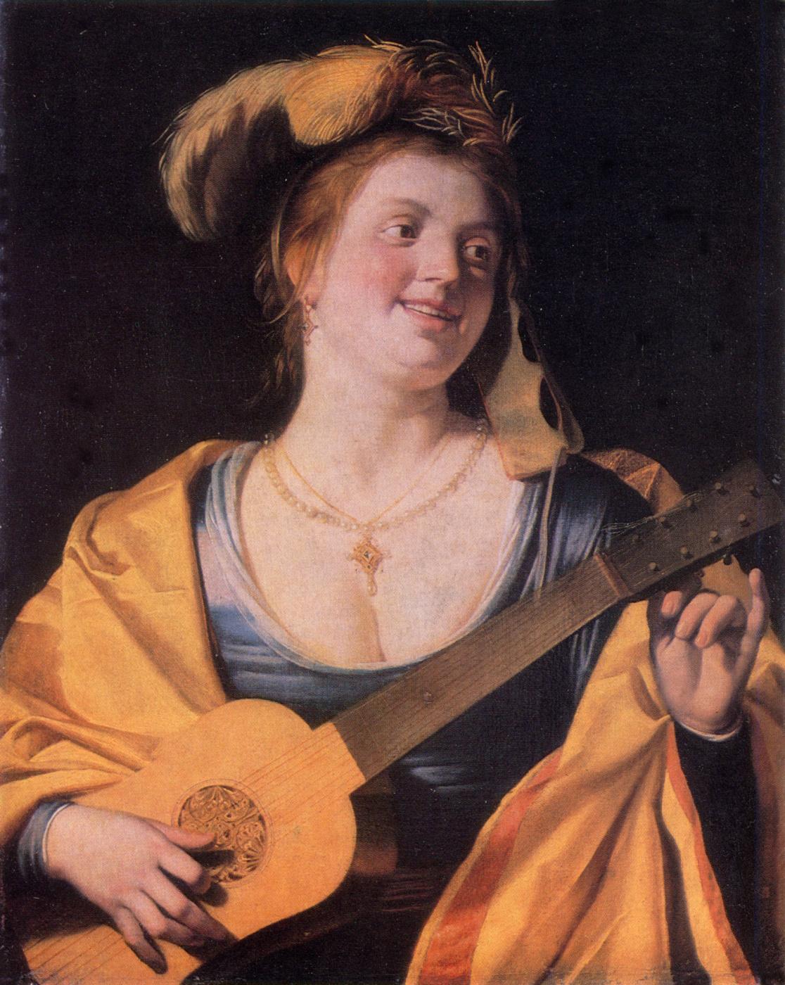 Gerrit van Honthorst. Guitarist