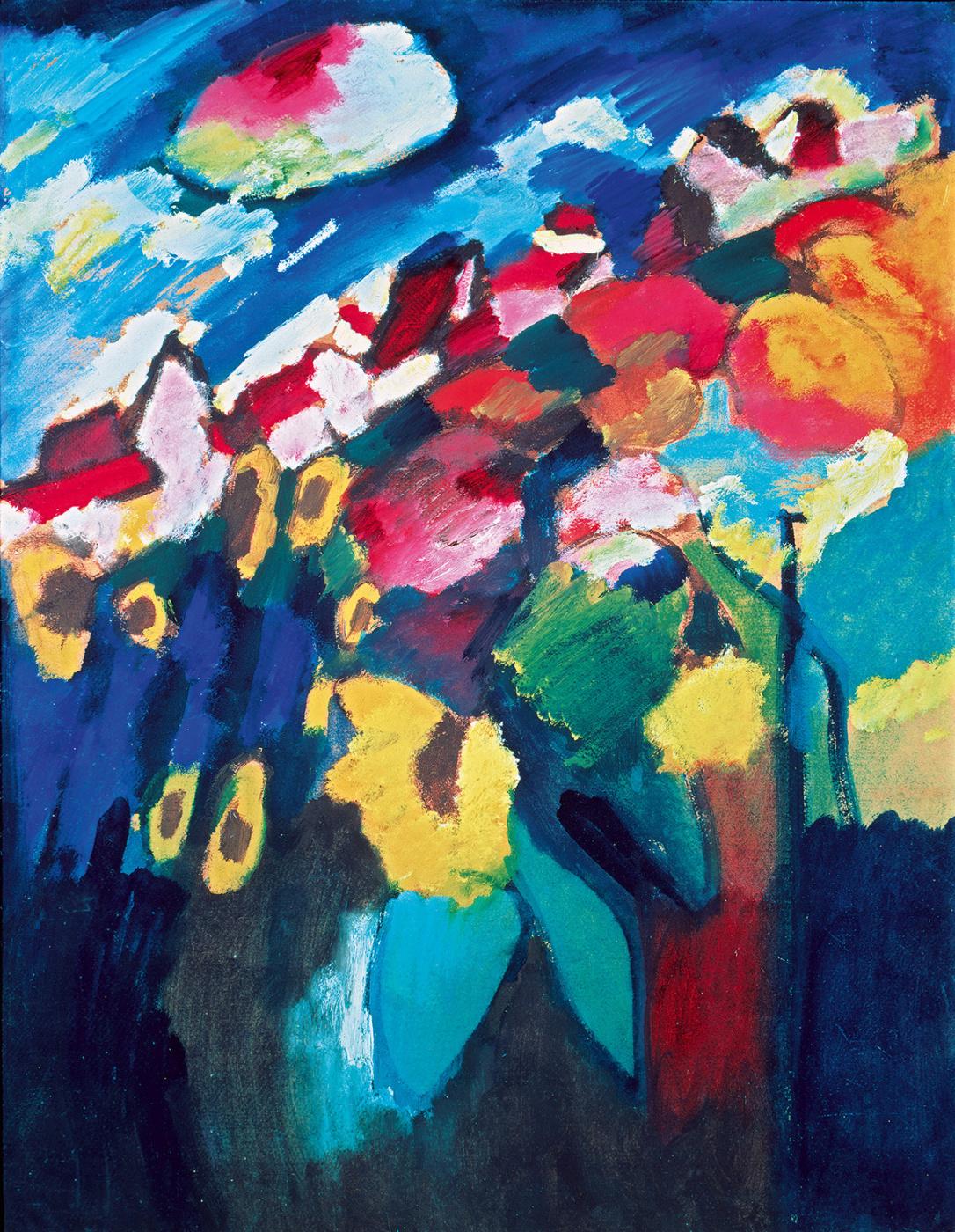 Wassily Kandinsky. Garden in Murnau II