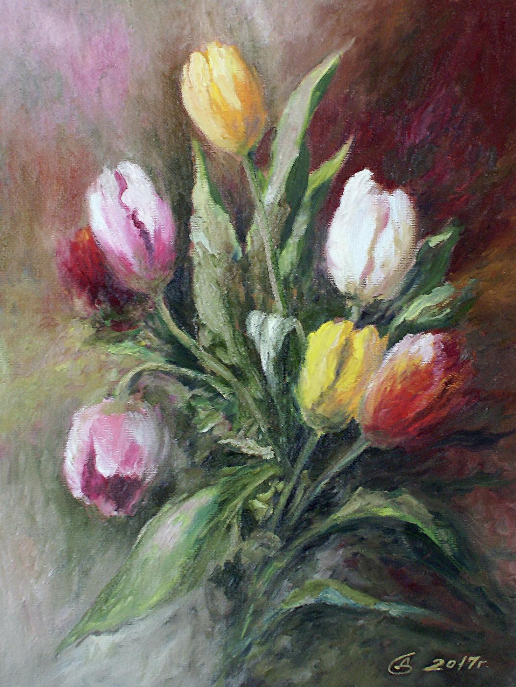 Сергей Владимирович Дорофеев. Bouquet of Tulips