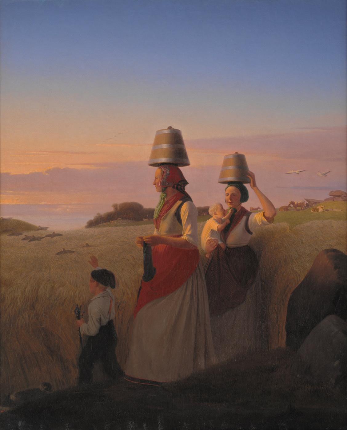 Jergen Valentine Sonne. Scene from village life